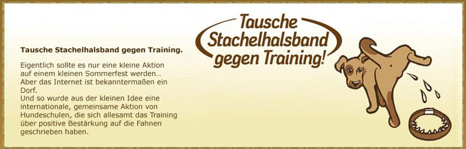 Tausche Stachelhalsband gegen Training